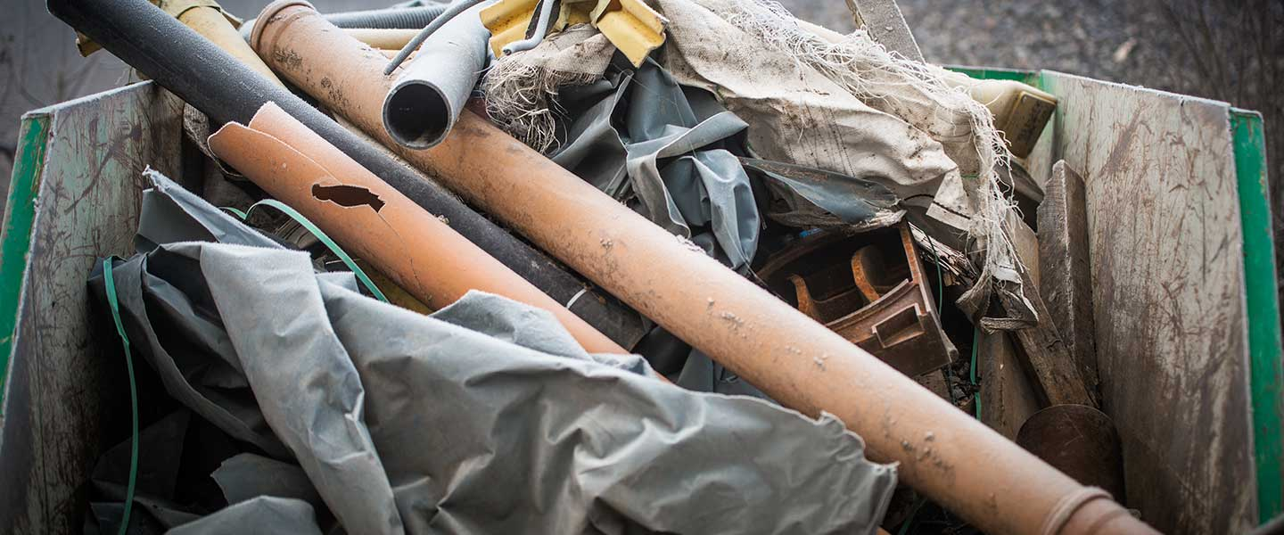 A large amount of garbage and junk that may need junk removal services