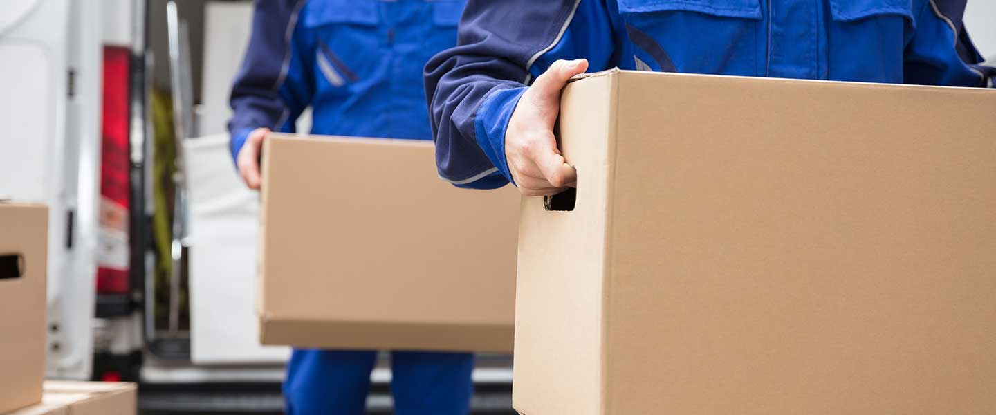 Professional movers providing moving help