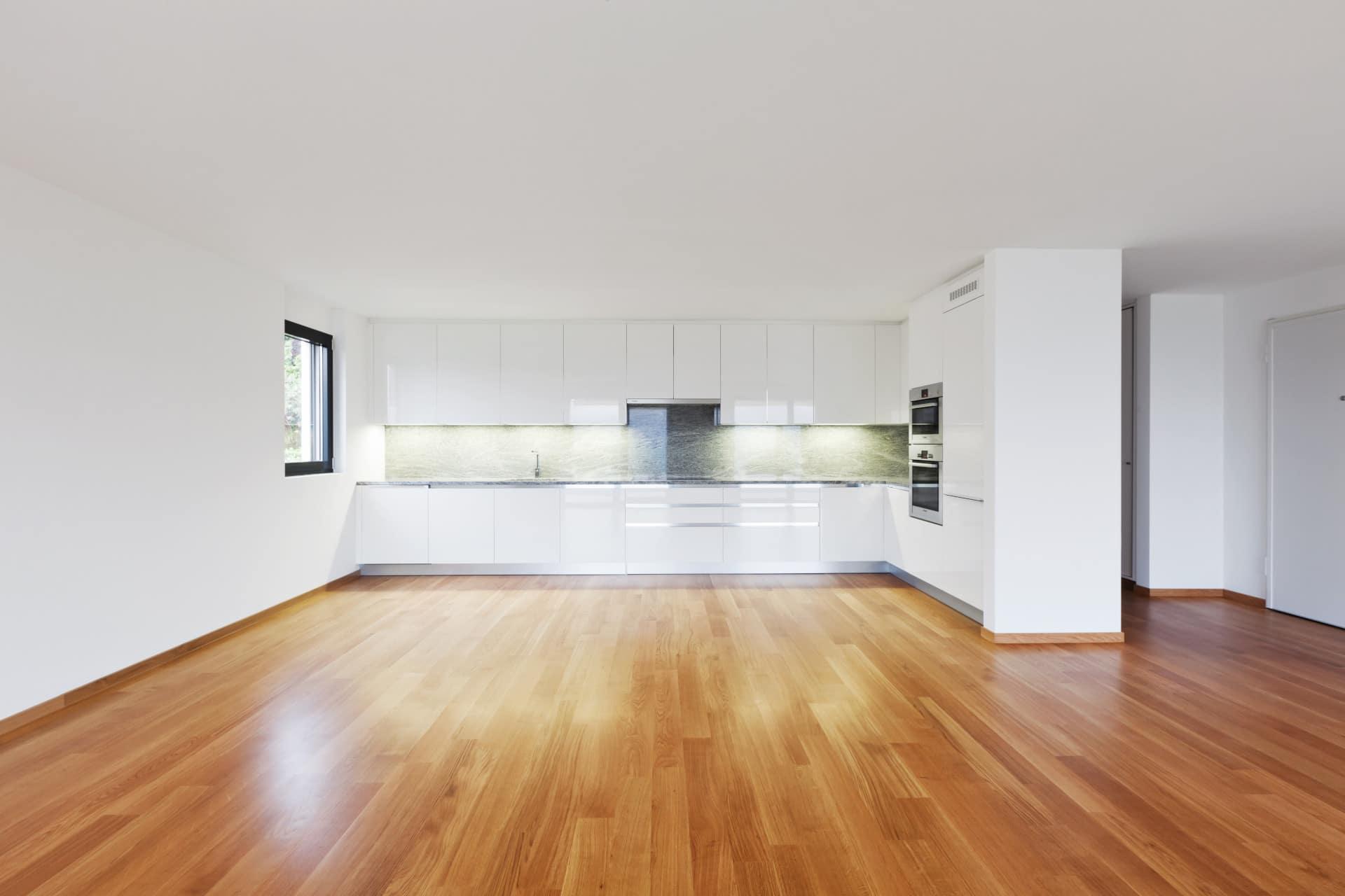 New vinyl flooring in an open concept home