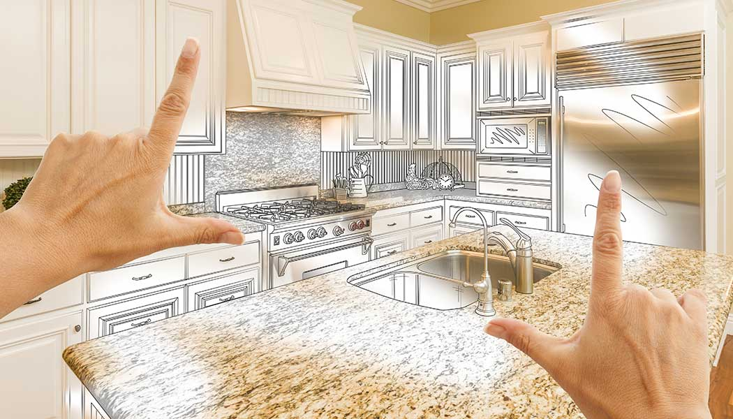 A homeowner envisions a kitchen remodel