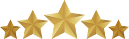 Vector graphic showing five stars to represent five star rating for our Tucson cleaning service